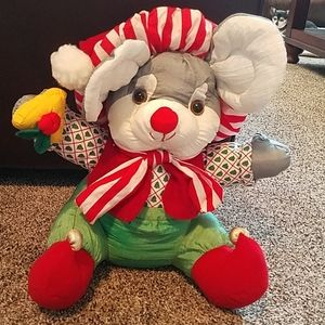 Stuffed Santa mouse